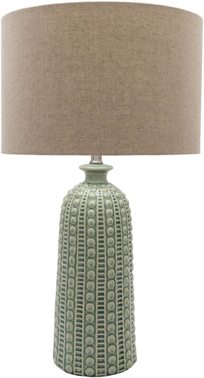 Newell Coastal Table Lamp Glazed Natural