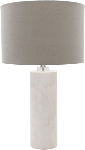 Roland Glam Table Lamp Natural Finish Gray
