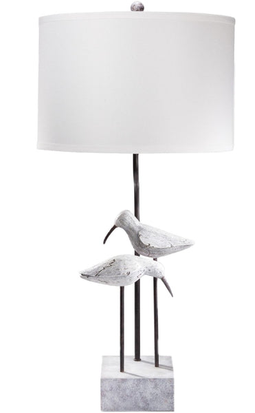 Seagull Coastal Table Lamp Washed Look White