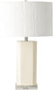 Shirley Glam Table Lamp Glazed Ivory