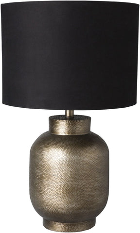 Silverhill Global Table Lamp Pewter Finish Black