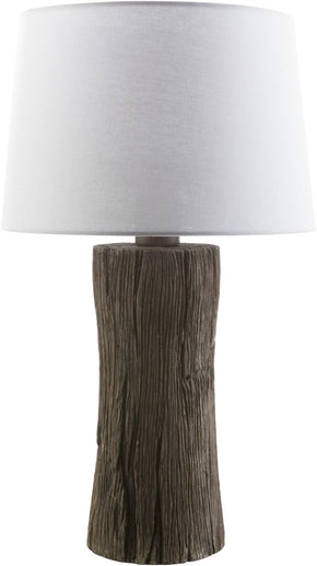 Sycamore Outdoor Table Lamp Faux Wood White