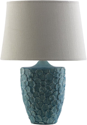 Thistlewood Modern Table Lamp Teal Ivory