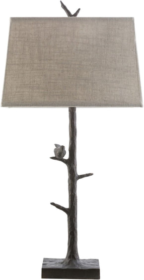 Weber Rustic Table Lamp Bronze Ivory