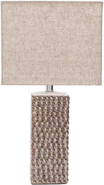 Whitley Contemporary Table Lamp Glazed Tan