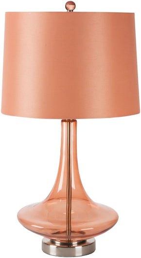 Zoey Modern Table Lamp Transparent Orange
