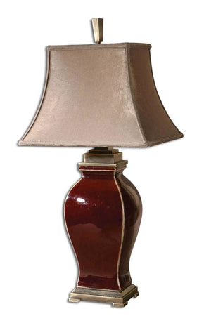 Rory Burgundy Table Lamp