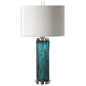 Almanzora Blue Glass Lamp Table