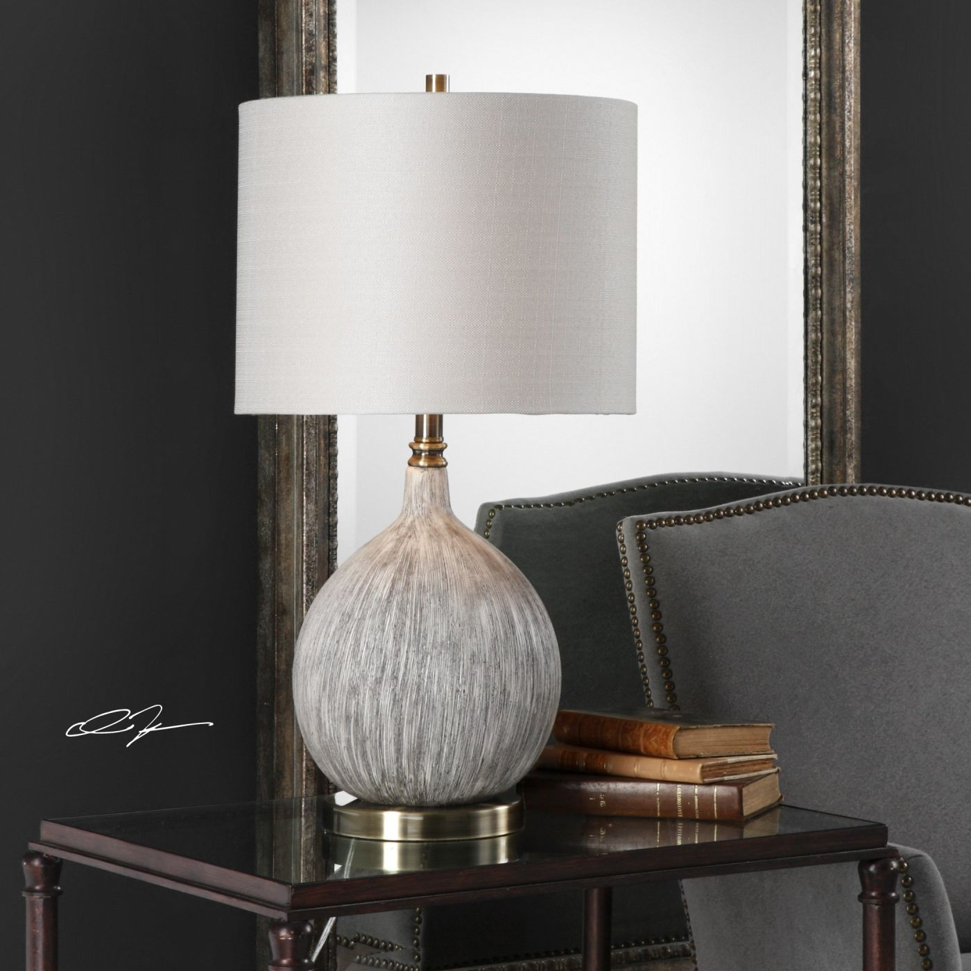 Hedera Textured Ivory Table Lamp Hedera Textured Ivory Table Lamp