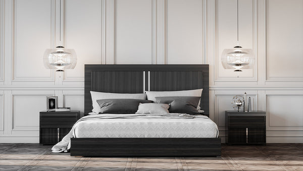 Vig Furniture VGACARI-BED Modrest Ari Italian Modern Grey Bed