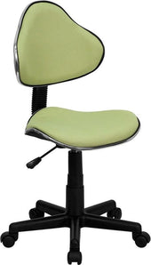 Fabric Ergonomic Swivel Task Chair Green