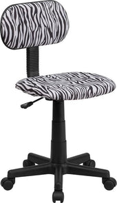 Black And White Zebra Print Swivel Task Chair Black,