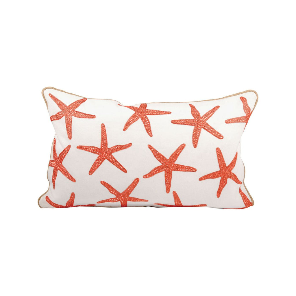 Chloe Pillow 20X12-Inch Coral,white