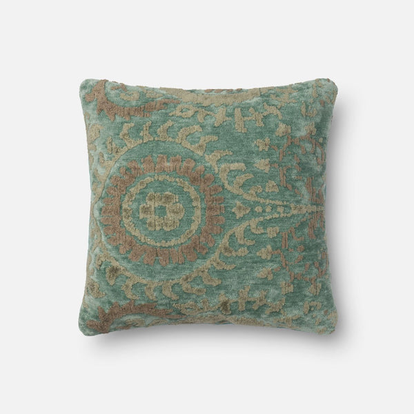 Loloi Blue Grass Decorative Throw Pillow (Gpi10)