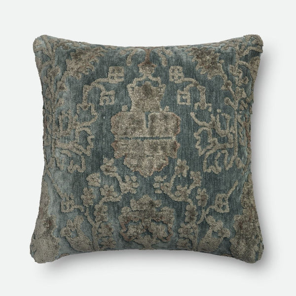 Loloi Grey / Blue Decorative Throw Pillow (Gpi15)
