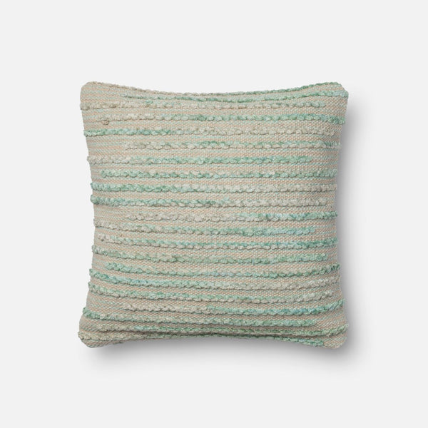 Throw Pillows - Loloi Rugs DSETMIS02SISGPIL1 Loloi Silver Sage Decorative Throw Pillow (MIS02) | 885369291128 | Only $99.00. Buy today at http://www.contemporaryfurniturewarehouse.com