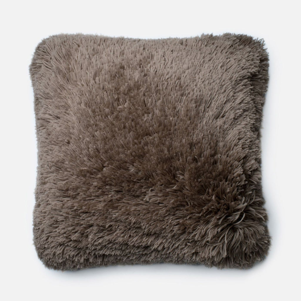 Loloi Taupe Decorative Throw Pillow (P0191)
