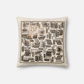 Loloi White / Gold Decorative Throw Pillow (P0196)