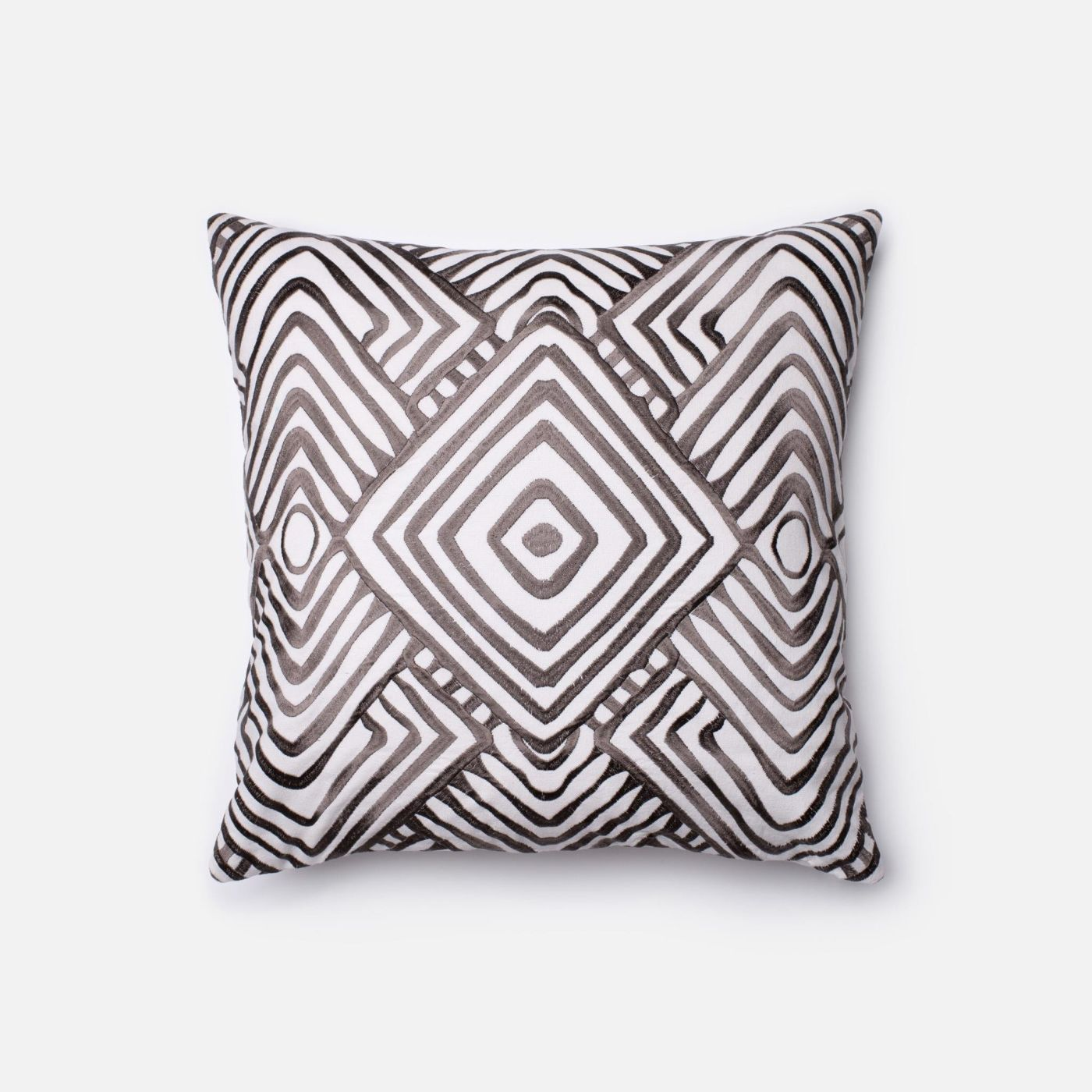 Throw Pillows Charcoal : Loloi Rugs Loloi White / Charcoal Decorative Throw Pillow (P0206) DSETP0206WHCCPIL1. Only $69.00 ...