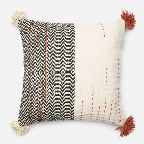Throw Pillows - Loloi Rugs DSETP0227BLIVPIL3 Loloi Black / Ivory Decorative Throw Pillow (P0227) | 885369260278 | Only $89.00. Buy today at http://www.contemporaryfurniturewarehouse.com