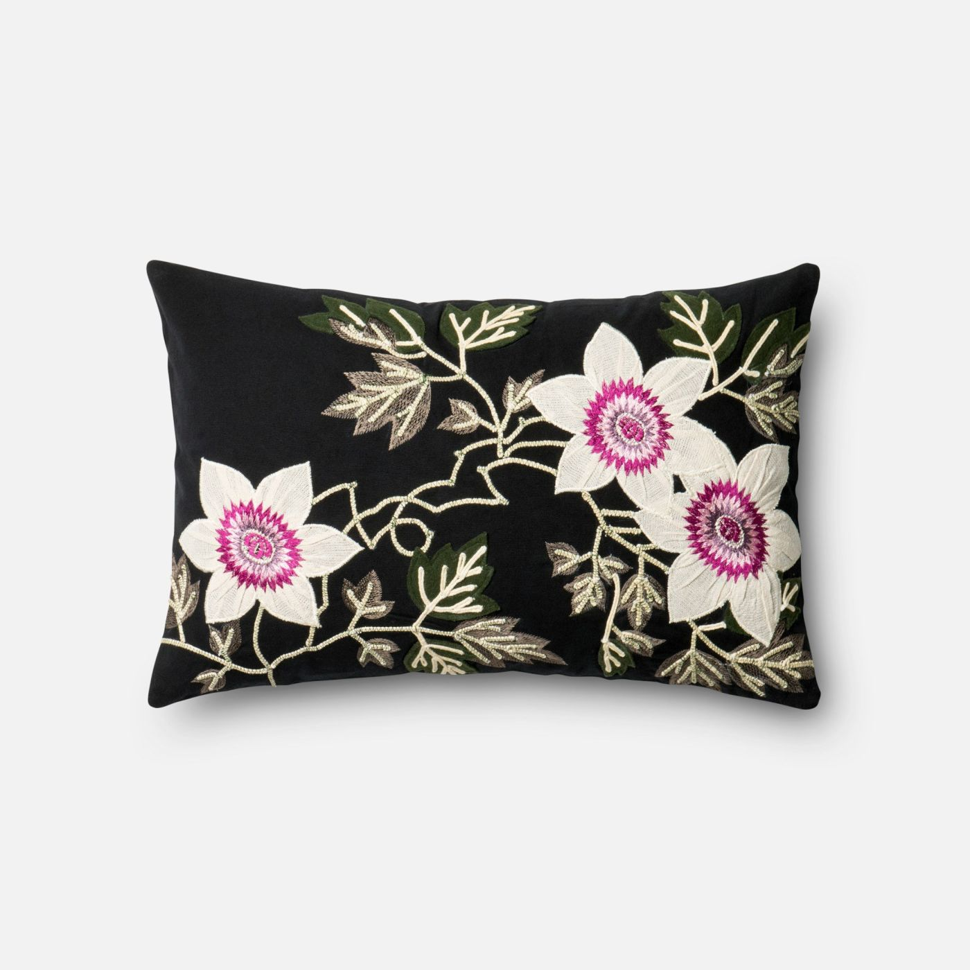 Black And Ivory Throw Pillows : Loloi Rugs Loloi Black / Ivory Decorative Throw Pillow (P0295) PSETP0295BLIVPIL5. Only USD69.00 at ...