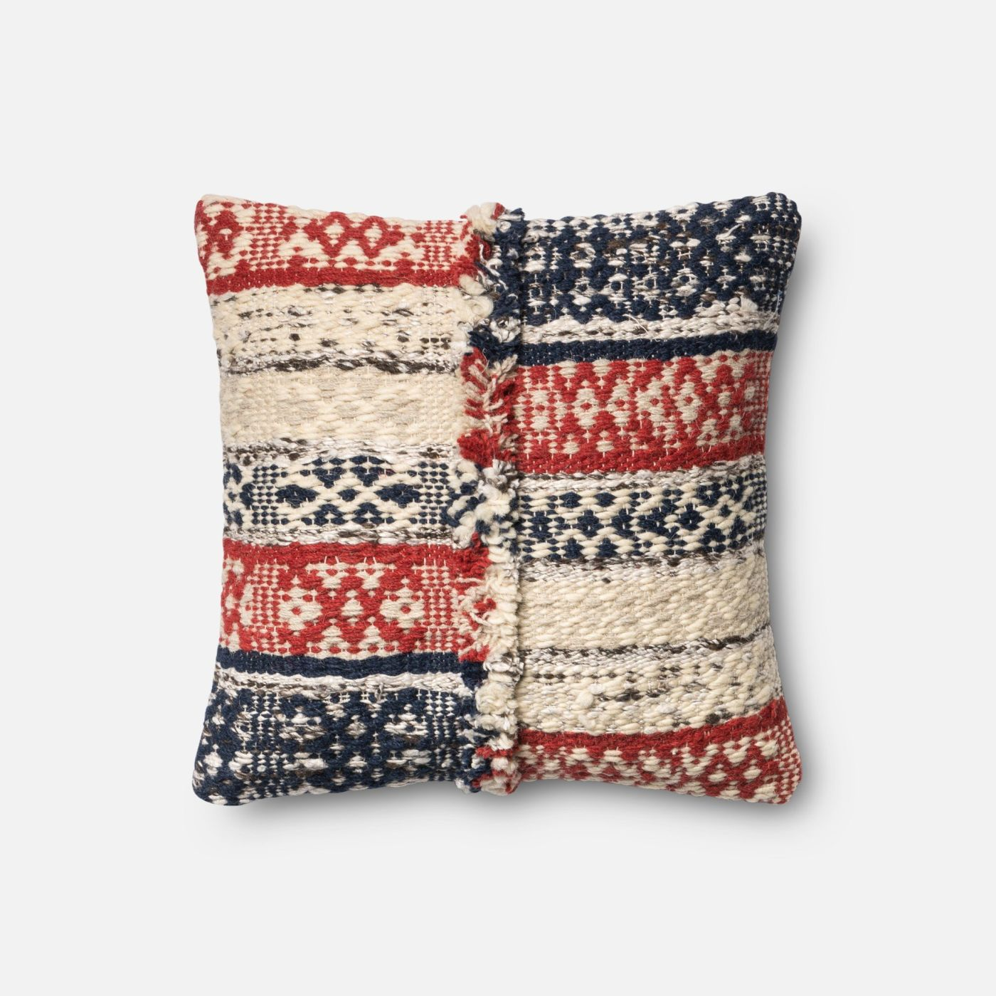 Blue Red Throw Pillow : Loloi Rugs Loloi Red / Blue Decorative Throw Pillow (P0377) DSETP0377REBBPIL1. Only $109.00 at ...