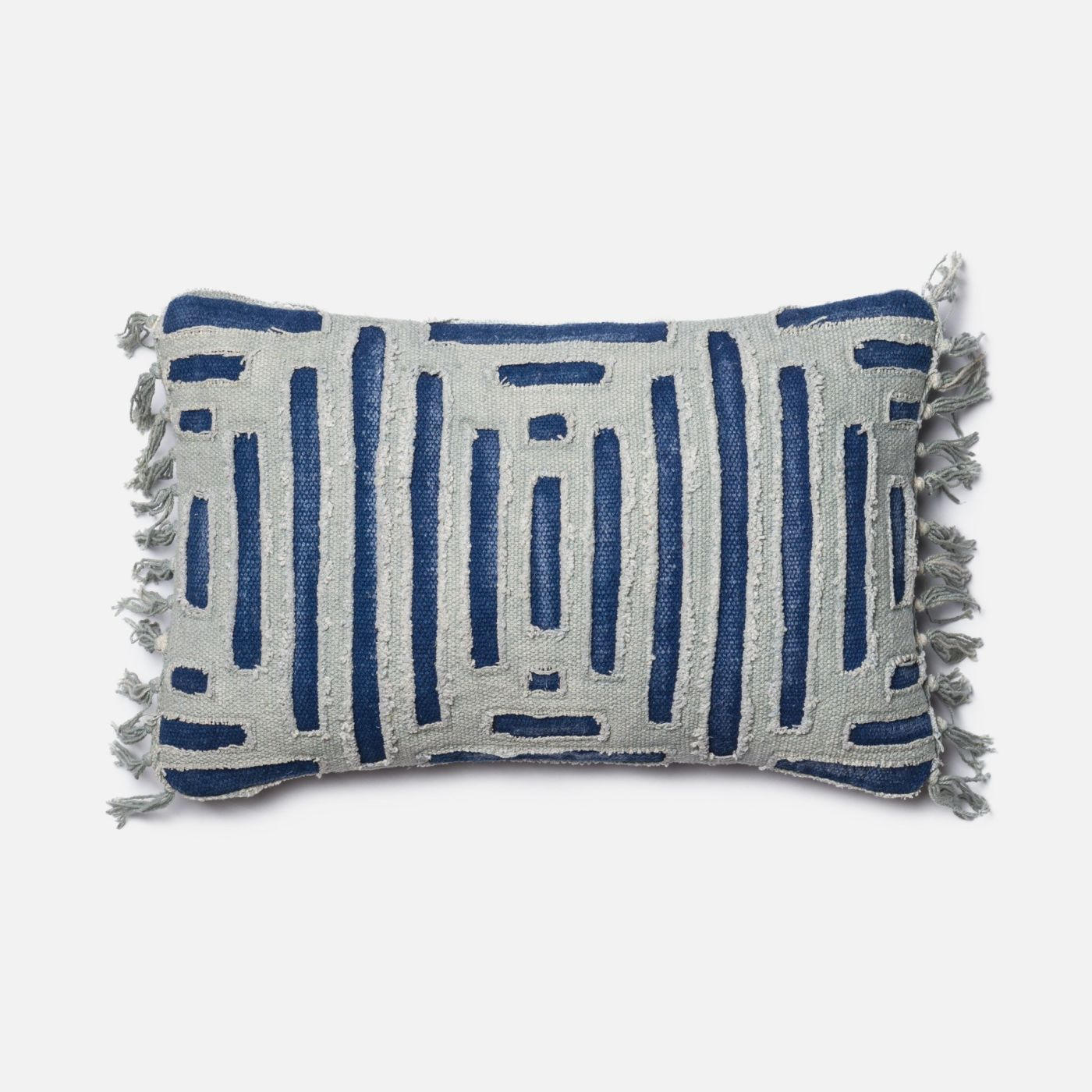 Loloi Rugs Loloi Blue / Grey Decorative Throw Pillow (P0405) DSETP0405BBGYPIL5. Only $139.00 at ...