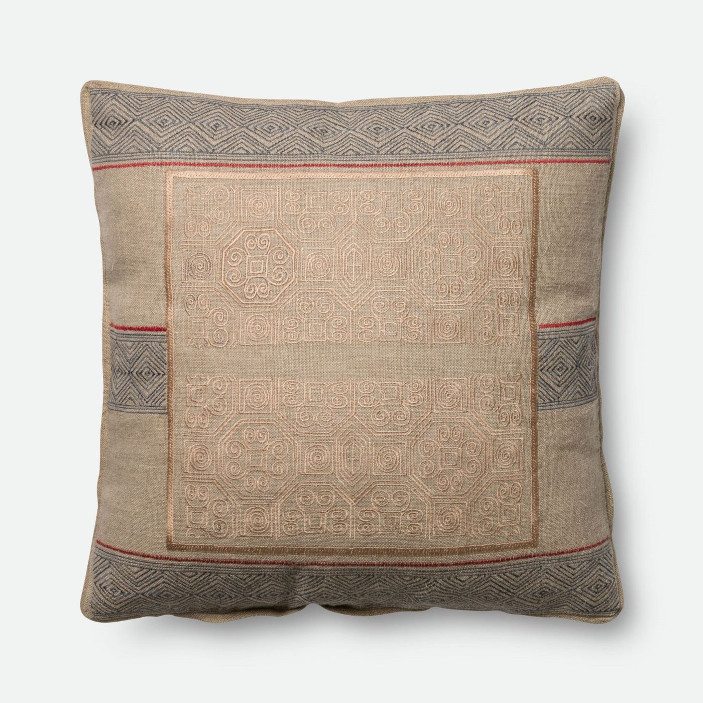 Throw Pillow Warehouse : Loloi Rugs Loloi Beige / Blue Decorative Throw Pillow (P0431) DSETP0431BEBBPIL5. Only $89.00 at ...