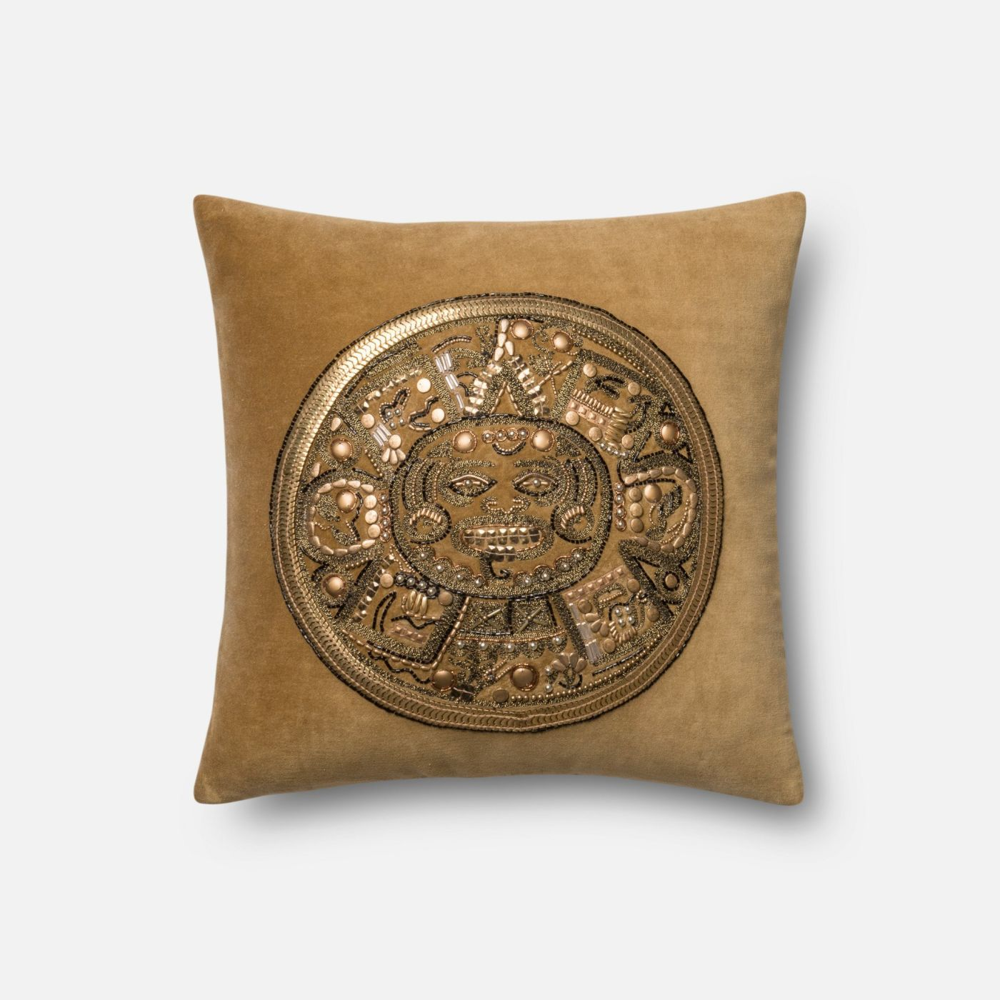 Throw Pillow Warehouse : Loloi Rugs Loloi Gold / Gold Decorative Throw Pillow (P0437) DSETP0437GOGOPIL1. Only $129.00 at ...