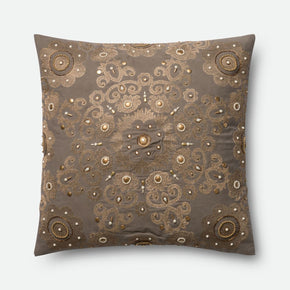 Throw Pillows - Loloi Rugs DSETP0440GYGOPIL3 Loloi Grey / Gold Decorative Throw Pillow (P0440) | 885369304866 | Only $119.00. Buy today at http://www.contemporaryfurniturewarehouse.com