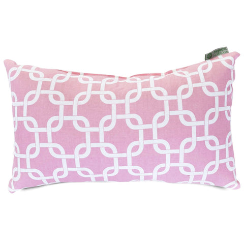 Soft Pink Links Small Pillow