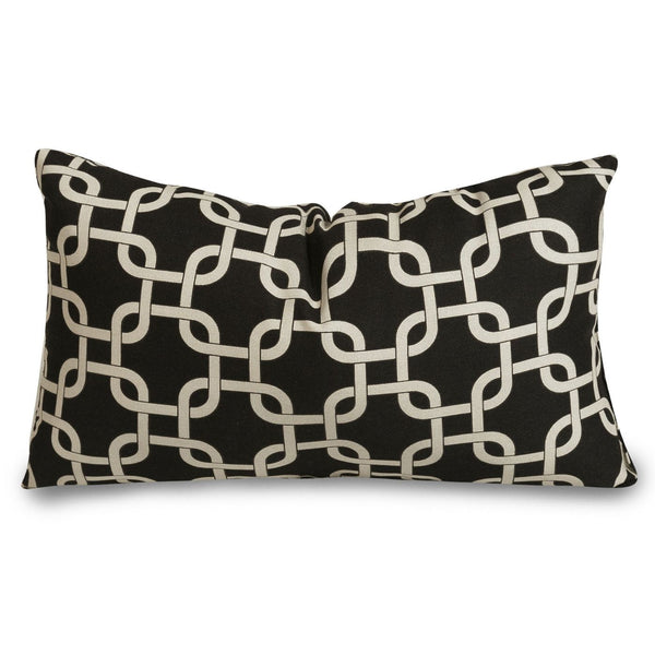 Black Links Small Pillow