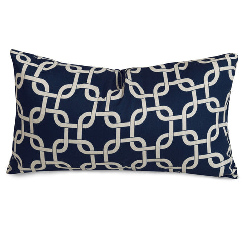 Navy Blue Links Small Pillow