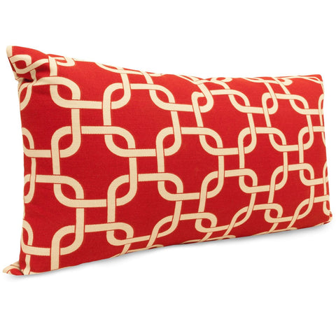 Red Links Small Pillow