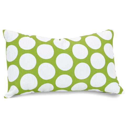 Hot Green Large Polka Dot Small Pillow