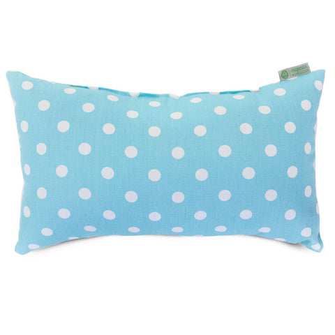Aquamarine Small Polka Dot Pillow