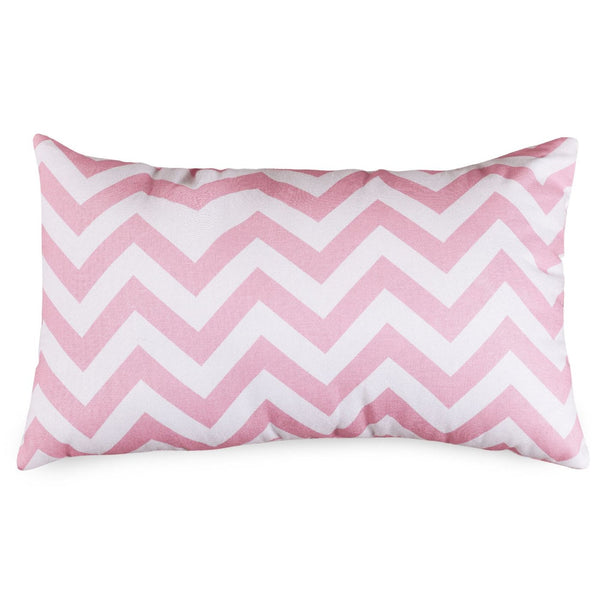 Baby Pink Chevron Small Pillow