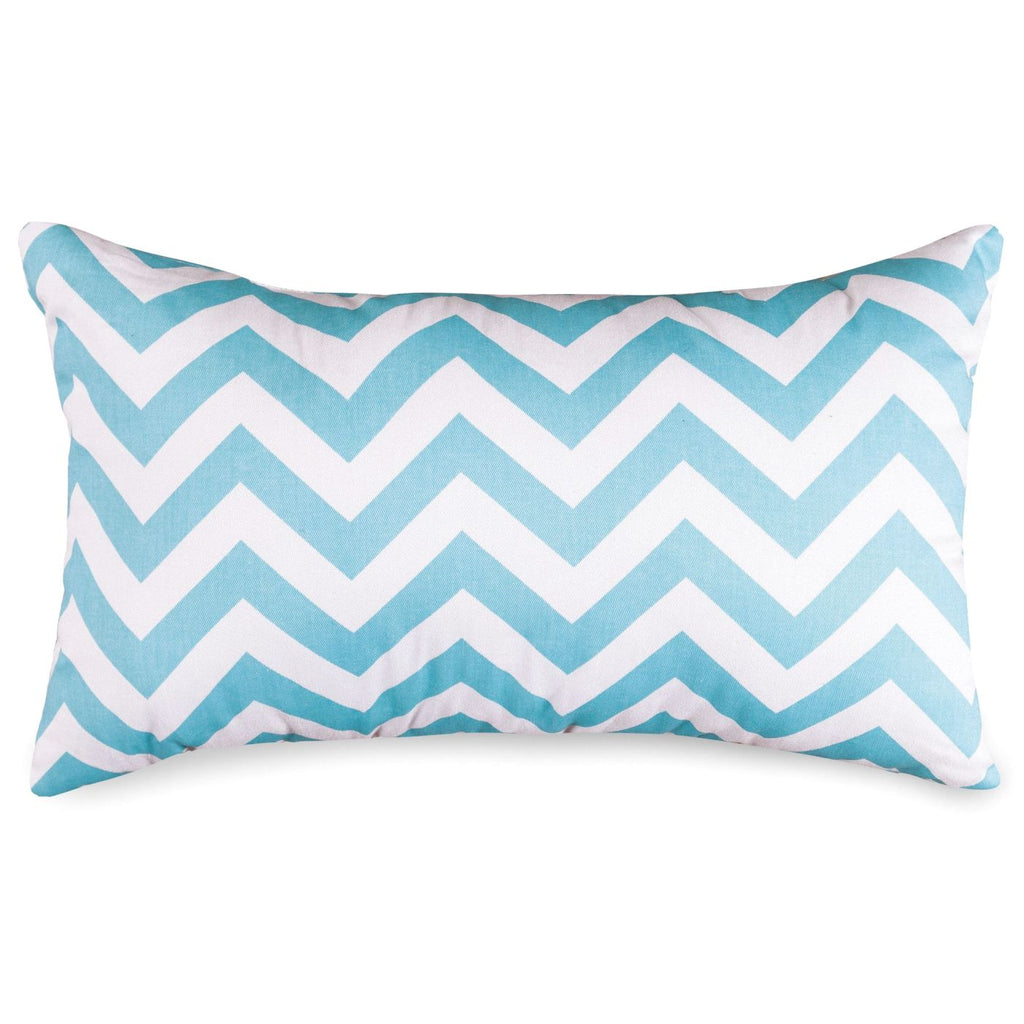 Tiffany Blue Chevron Small Pillow