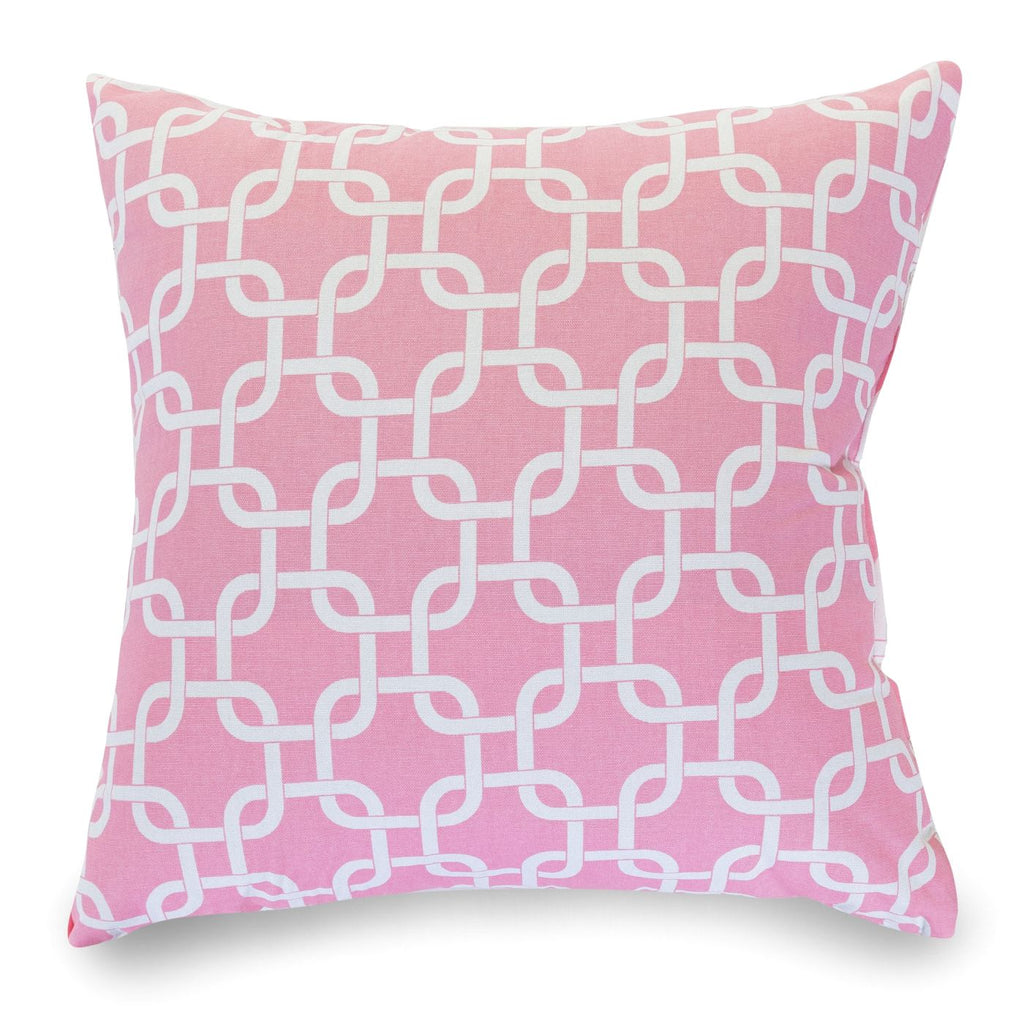 Soft Pink Links Large Pillow
