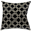Black Links Large Pillow