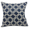 Navy Blue Links Large Pillow