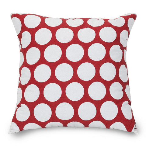 Red Hot Large Polka Dot Pillow