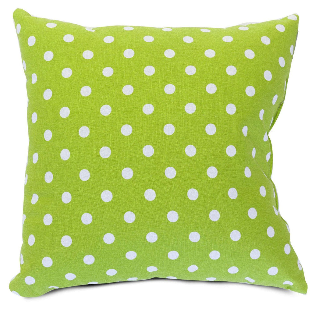 Lime Small Polka Dot Large Pillow