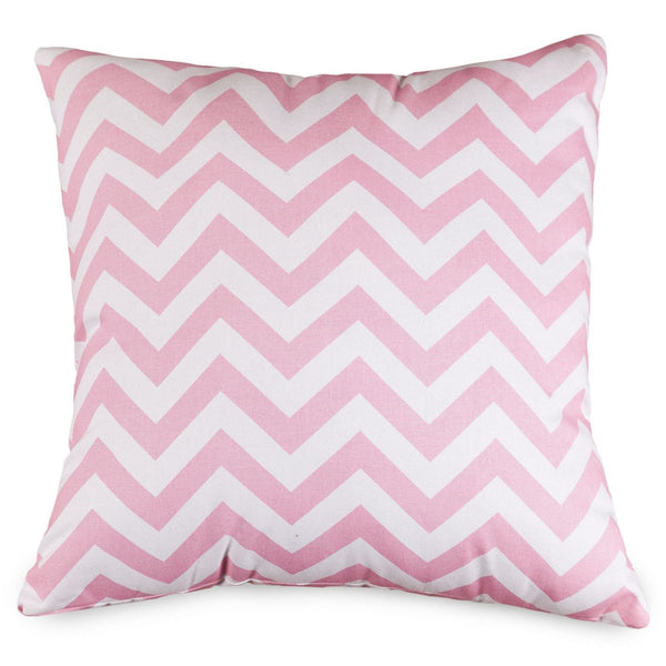 Baby Pink Chevron Large Pillow