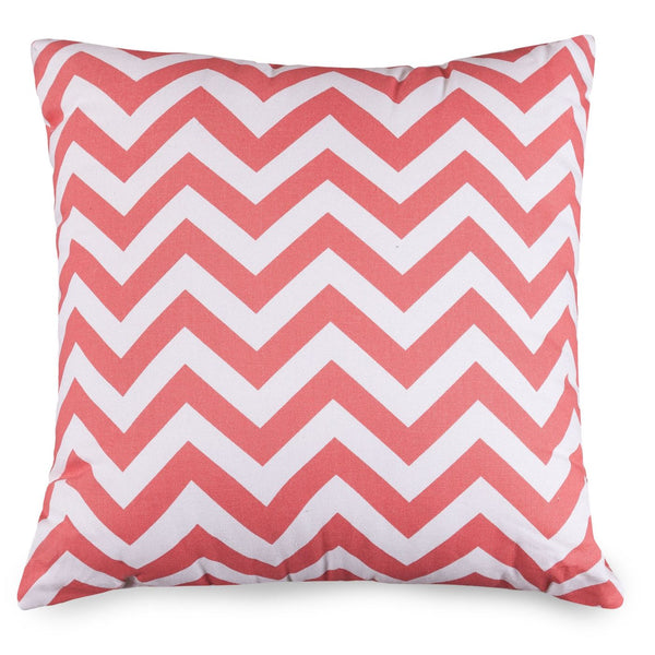 Throw Pillows - Majestic Home 85907210838 Coral Chevron Large Pillow | 859072108380 | Only $42.90. Buy today at http://www.contemporaryfurniturewarehouse.com