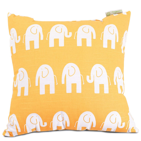 Yellow Ellie Large Pillow