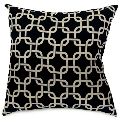 Black Links Extra Large Pillow