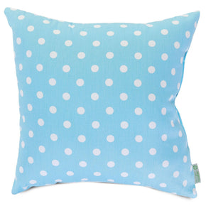 Aquamarine Small Polka Dot Extra Large Pillow