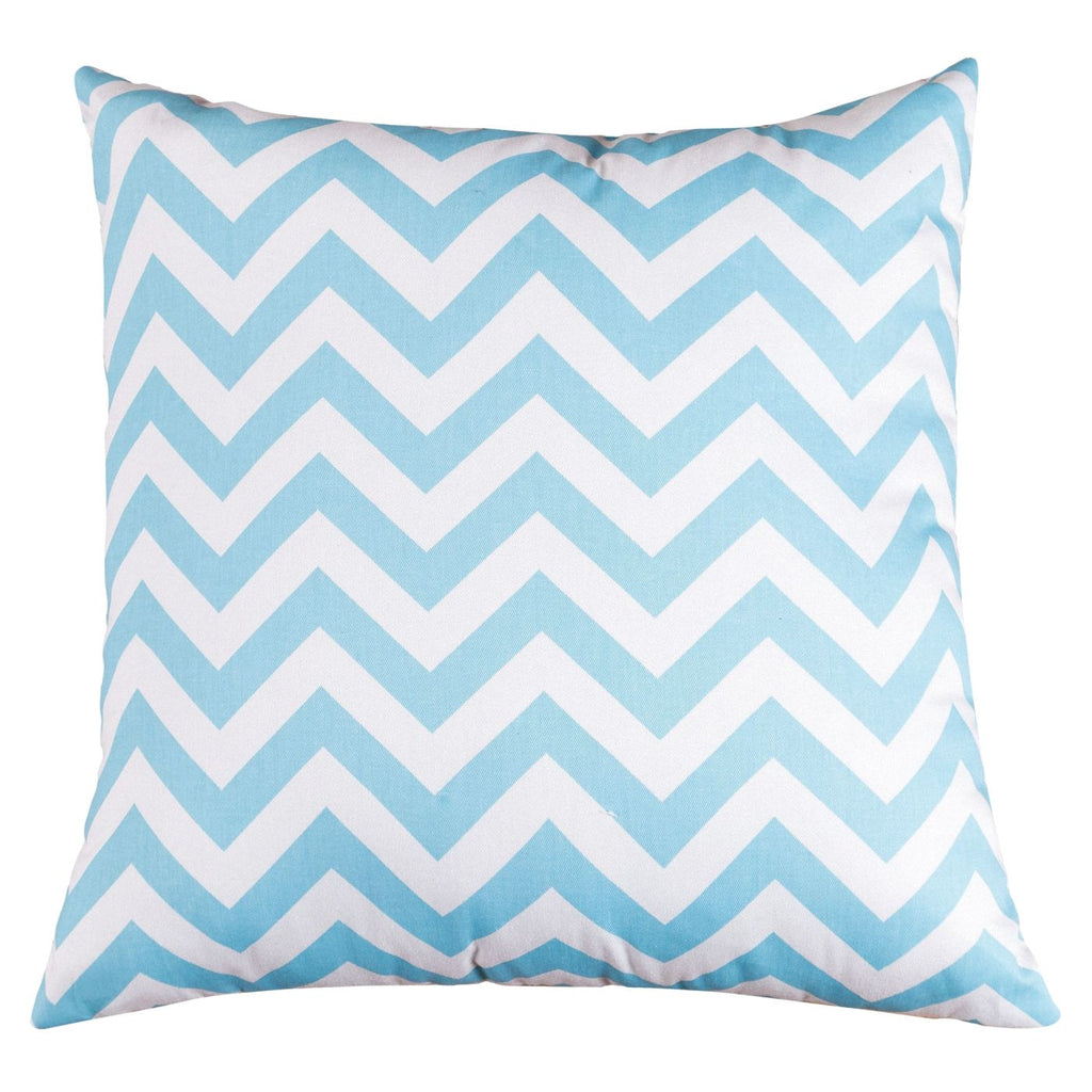 Tiffany Blue Chevron Extra Large Pillow