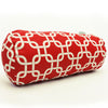 Red Links Round Bolster Pillow